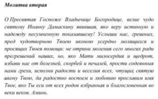 Молитва иконе Божьей Матери «Троеручица»: значение и исцеление больного на русском языке