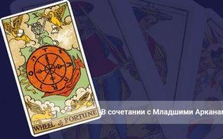 Колесо Фортуны Таро (10 аркан, судьба): значения и сочетания с другими картами, в отношениях и любви