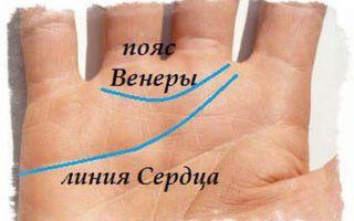 Пояс (кольцо) венеры на руке: значение, хиромантия, описание