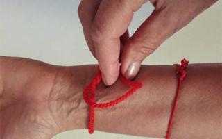 Как завязать узлы на красной нити правильно: 7 узлов, сколько нужно