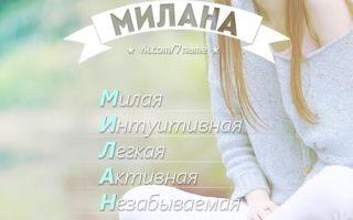 Милана (Мила): история и варианты имени, происхождение и толкование, совместимость в любви