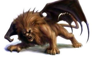 Мантикора (мифология): что такое, мифическое существо и как выглядит животное?