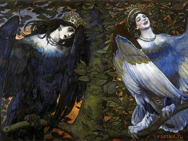 Алконост, Сирин и Гамаюн: райские птицы, славянская мифология