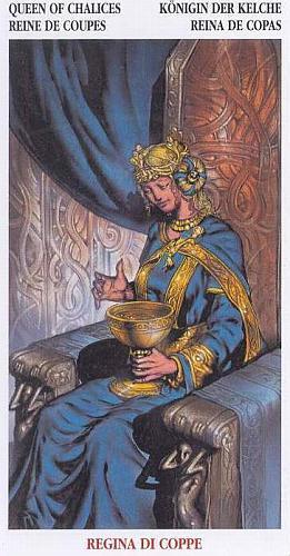 Королева Кубков (Дама Чаш): значение аркана Таро, сочетания с другими картами, толкование в гаданиях и раскладах, перевернутая и прямая