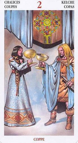 2 Кубков (Двойка Чаш): значение аркана Таро, сочетания с другими картами, толкование в гаданиях и раскладах, перевернутая и прямая