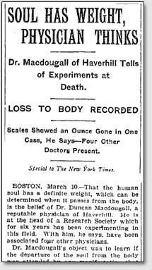 Сколько весит душа человека после смерти?