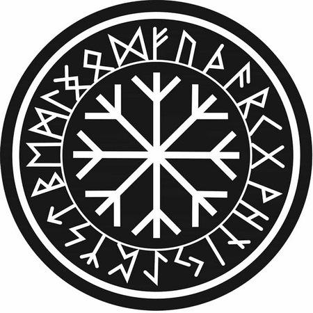 Рунический круг Футарк: значение амулета силы, изготовление, активация и применение, ставы в центре, Валькнут и Трискель