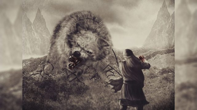 Фенрир: сивый, волк, скандинавская мифология