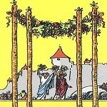 4 Жезлов (Четверка Посохов, Булав): значение аркана Таро, сочетания с другими картами, толкование в гаданиях и раскладах, перевернутая и прямая