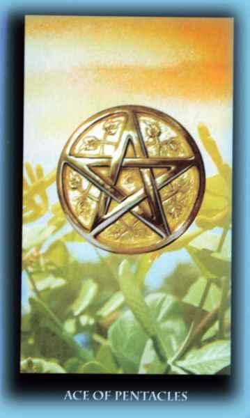 Туз Пентаклей (1 Монет, Денариев): значение аркана Таро, сочетания с другими картами, толкование в гаданиях и раскладах, перевернутый и прямой