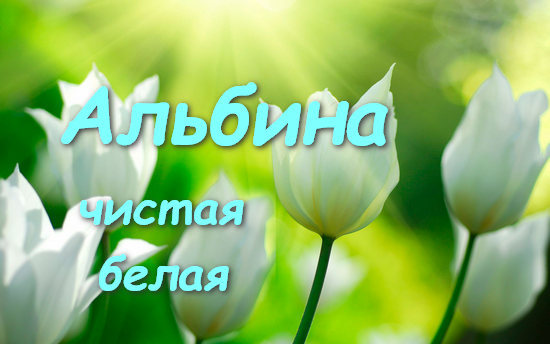 Альбина (Аля): значение имени, характер и судьба, происхождение и толкование, совместимость в любви