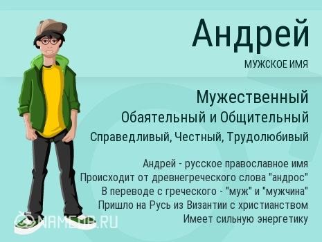 Андрей (Андрюша, Эндрю): значение имени, характер и судьба, происхождение и толкование, совместимость в любви