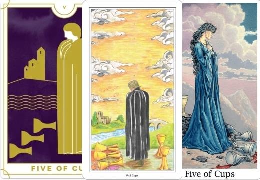 5 Кубков (Пятерка Чаш): значение аркана Таро, сочетания с другими картами, толкование в гаданиях и раскладах, перевернутая и прямая