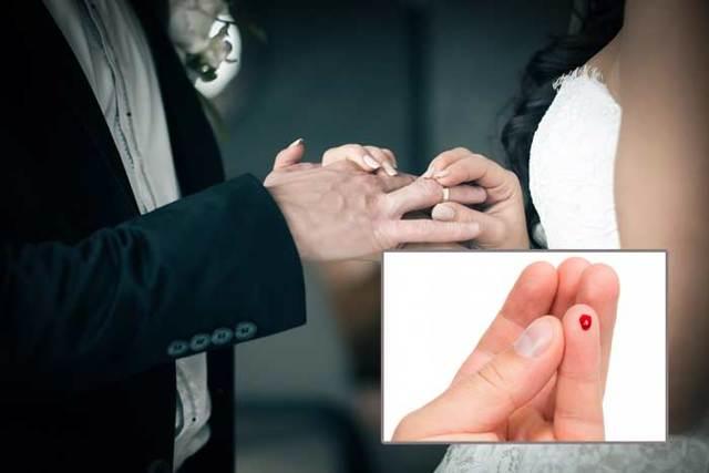 Примета уколоть палец иголкой, до крови