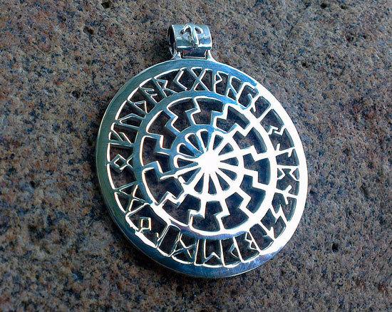 Черное солнце: значение оберега, славянский символ, описание