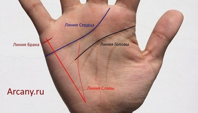 Линия Солнца на руке: значение, хиромантия, ответвление