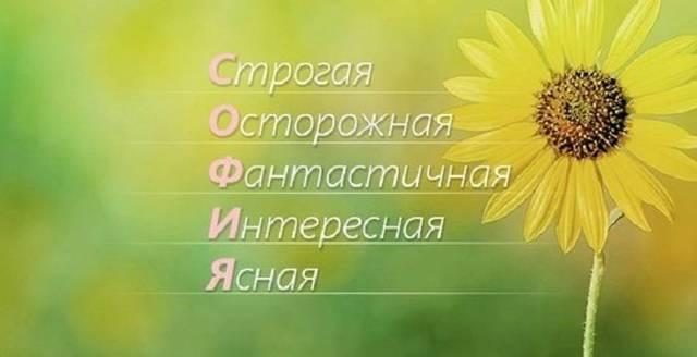 Софья (София, Софа, Соня): значение имени, характер и судьба, происхождение и толкование, совместимость в любви