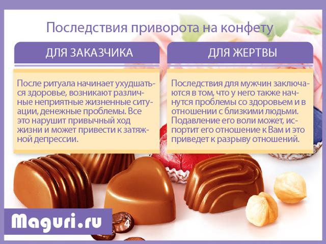 Приворот на конфеты: безгрешный, как приворожить